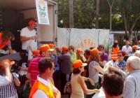 Reparto de hortalizas en Almería en protesta por los bajos precios