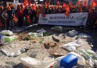 400 productores de ecológico de UPA Andalucía protestan ante la Consejería de Agricultura