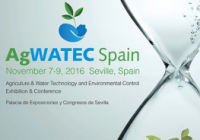 Agwatec Spain 2016 abre sus puertas el 7 de noviembre en el  Palacio de Exposiciones y Congresos de Sevilla