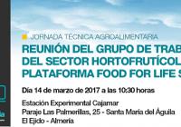 La Plataforma 'Food For Life Spain'  y Cajamar Caja Rural organizan una jornada técnica el próximo 14 de marzo en El Ejido