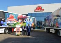 Fresón de Palos culmina la temporada y reúne los trailers de Primafrio que han recorrido Europa con su promoción de Los Pitufos