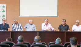 Ángel Gorostidi, reelegido por unanimidad presidente de la Comunidad de Regantes El Fresno