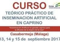 CABRAMA realizará un curso teórico práctico de inseminación artificial en caprino en Casabermeja (Málaga) del 13 al 15 de septiembre
