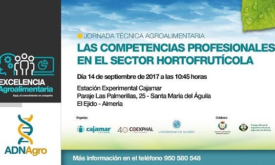 La Estación Experimental Cajamar acogerá la jornada técnica 'Las competencias profesionales en el sector hortofrutícola'