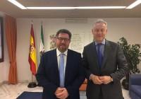 Sánchez Haro y el embajador británico analizan los posibles efectos del Brexit en las relaciones comerciales con Andalucía