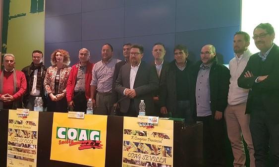 Ramón García, elegido secretario provincial de COAG Sevilla