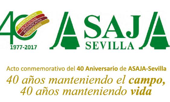 Asaja-Sevilla cierra su aniversario con un acto homenaje a los agricultores y ganaderos