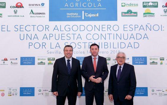 El Sector Algodonero Español a debate en el Foro Agrícola del Instituto de Estudios Cajasol
