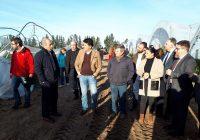 Sánchez Haro visita a agricultores afectados por el temporal en Huelva y reclama al Gobierno central celeridad en las ayudas