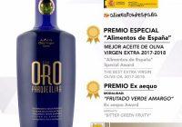 El AOVE 'Parqueoliva Serie Oro' de Almazaras de la Subbética se alza con el 'Premio Especial Alimentos de España 2017-2018'