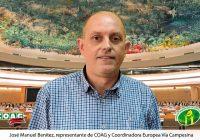 COAG subraya en la ONU que para garantizar los derechos de los campesinos son imprescindibles unos precios justos en el campo