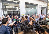 Cientos de agricultores del Condado se concentran ante la Subdelegación del Gobierno de Huelva por la falta de concesiones de agua