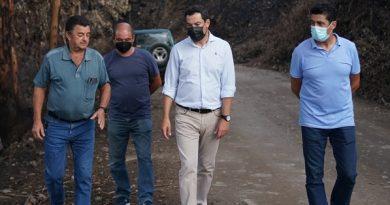 Moreno anuncia que pedirá al Gobierno de España la  declaración de zona catastrófica para Sierra Bermeja