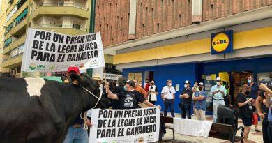 Ganaderos denuncian los bajos precios de la leche con el reparto de 500 litros en Málaga